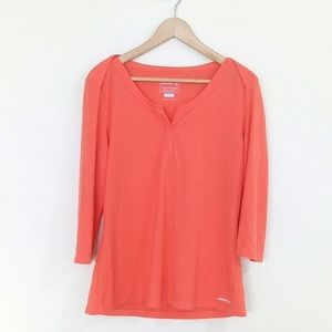 Merrell Casual Top Coral 3/4 Sleeves Shirt Women's
